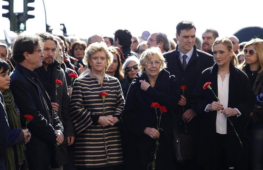 Homenaje a las víctimas del 11 M en Atocha.