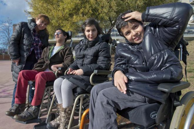 Amparo Márquez y sus tres hijos, Lluis Illán, Alejandra y Álvaro...