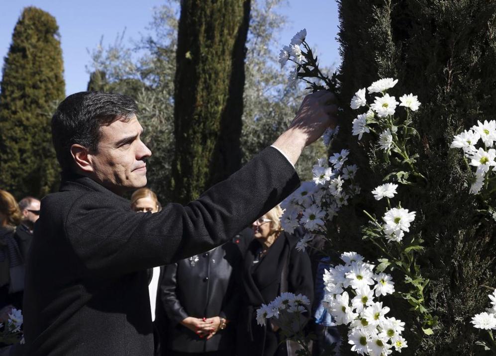Homenaje a las víctimas del 11 M en el Bosque del Recuerdo del parque...