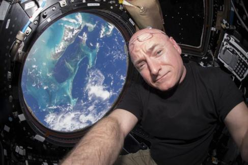 El astronauta Scott Kelly.