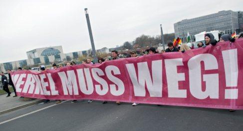 Manifestación ultraderechista en Berlín este sábado bajo el lema...