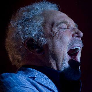Tom Jones, durante su concierto en los Jardines de Pedralbes de...
