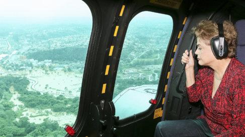 Dilma Rousseff comprueba los efectos de las lluvias en Franco da...