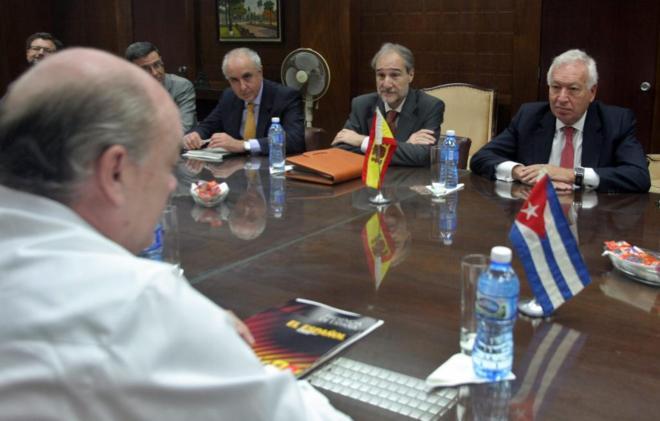 El ministro español de Exteriores, José Manuel García-Margallo, en...