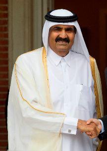 HAMAD BIN JALIFA AL THANI: Emir del Estado de Datar. Collar de la Real...