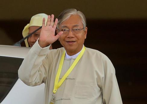 Htin Kyaw, el nuevo presidente de Birmania.