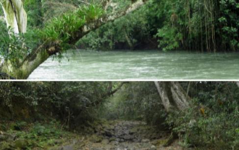 El río Atoyac, antes y después de la desaparición de su caudal.