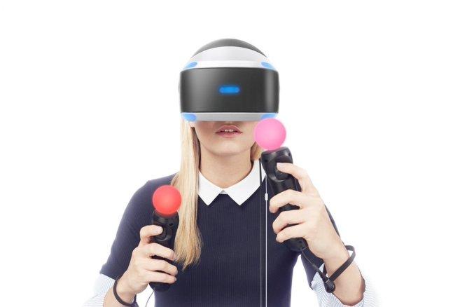Casco de realidad virtual de Playstation.