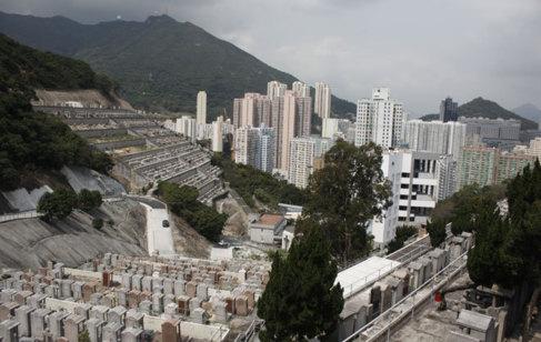 Vista del cementerio de Cape Collinson, en Hong Kong.   I. ARANA