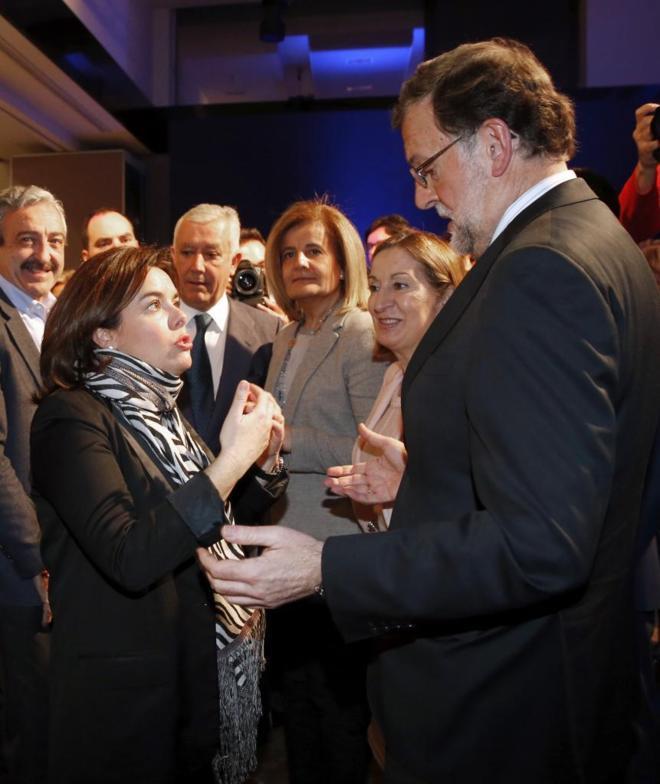 Soraya Sáenz de Santamaría y Mariano Rajoy, en la convenión del PP...