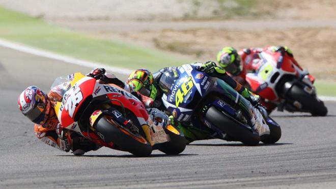 Imagen del Gran Premio de Aragón de MotoGP de la pasada temporada.