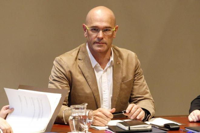 Raül Romeva, consejero de Exteriores, en el Palau de la Generalitat.