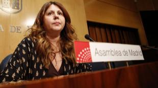 Eva Borox, este jueves en la Asamblea de Madrid.