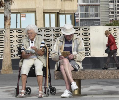 Jubilados ingleses en Benidorm.