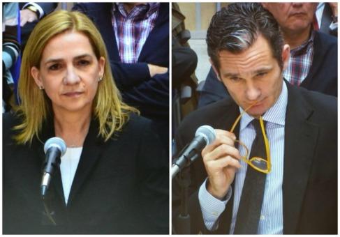 La infanta y su marido, Iñaki Urdangarin, durante sus declaraciones...