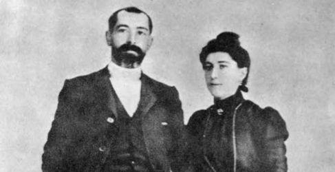 Sabino y Nicolasa en su boda.