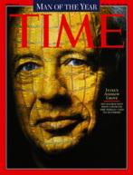 "Portada de Time de 1997 dedicada a Andrew Grove como ""hombre del..."