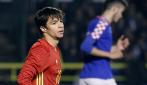 Óliver Torres, durante el partido ante Croacia.