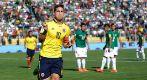 James Rodriguez celebra su gol contra Bolivia.