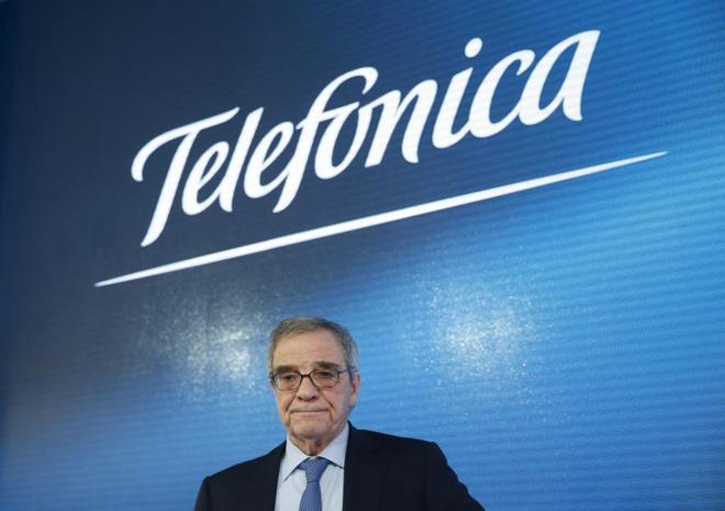 César Alierta en la presentación anual de resultados de Telefónica...