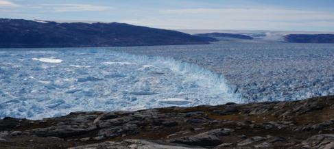 Acantilado de hielo en Groenlandia.