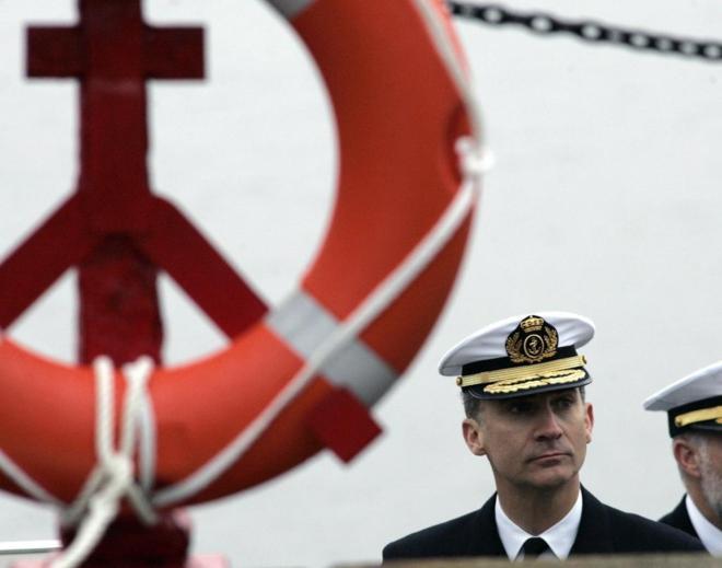 Felipe VI, durante una visita reciente a la Estación Naval de A...