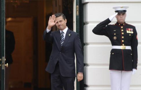 Enrique Peña Nieto, llega a la Casa Blanca para una cena de trabajo.