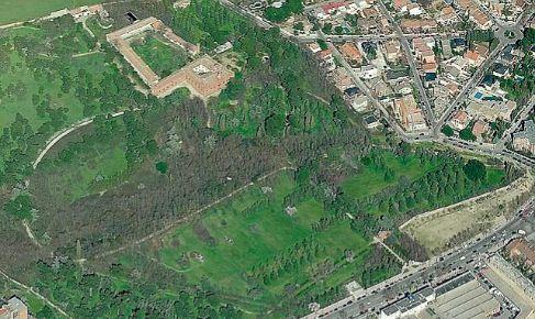 Vista aérea de la Quinta Torre Arias, en la calle Alcalá