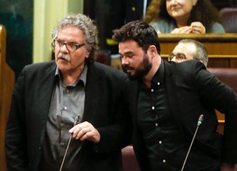 Joan Tardà y el portavoz adjunto, Gabriel Rufián.