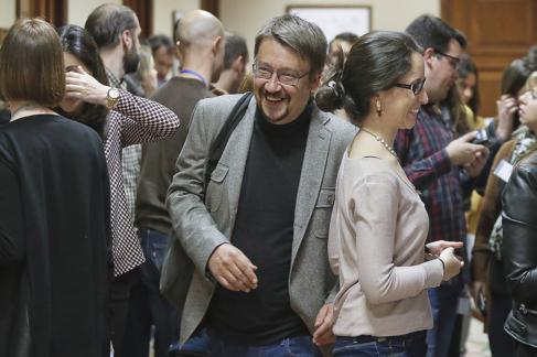 El líder de En Comú Podem en el Congreso, Xavier Domènech, el...