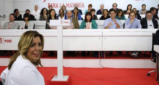 La presidenta andaluza, Susana Díaz, al inicio del Comité Federal...
