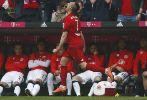 Ribéry celebra su gol frente al Eintracht de Frankfurt.