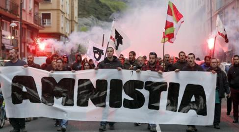 Manifestación convocada por el Movimiento por la Amnistía y contra...