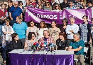 Decenas de miembros de Podemos Euskadi.