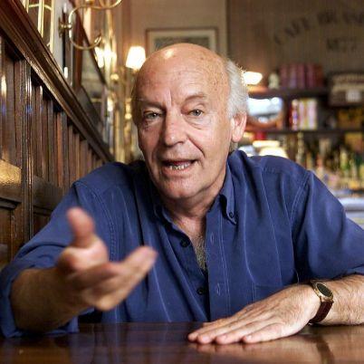 Eduardo Galeano, en Montevideo, en 2002.