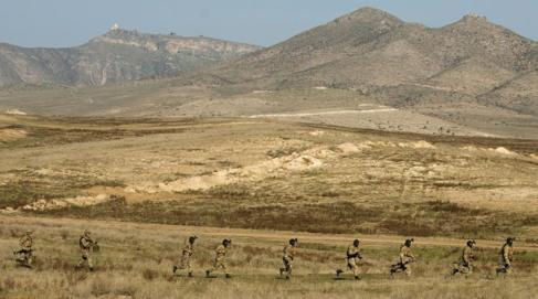 Foto de archivo de soldados armenios en Nagorno Karabaj.