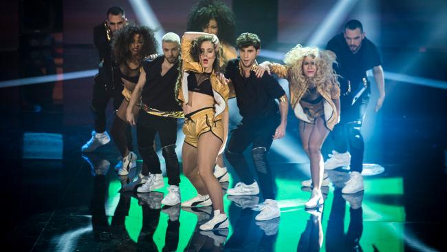 Concursantes de 'Top Dance', durante una actuación.