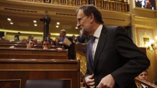 El presidente del Gobierno en funciones, Mariano Rajoy, a su llegada...