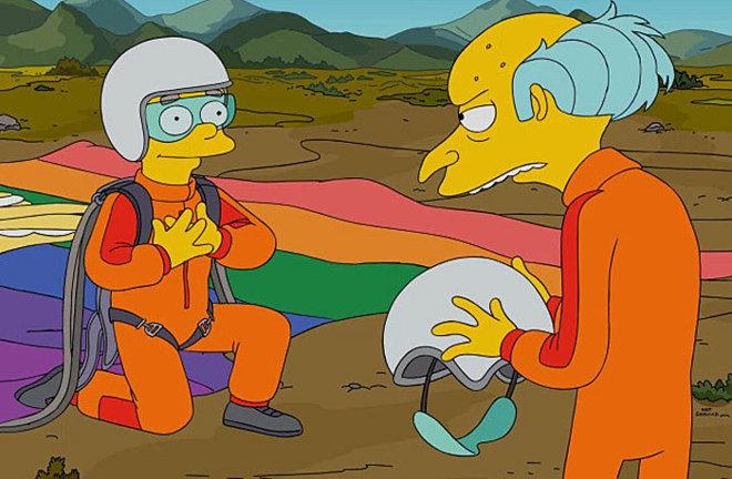 Waylon Smithers, con el señor Burns.