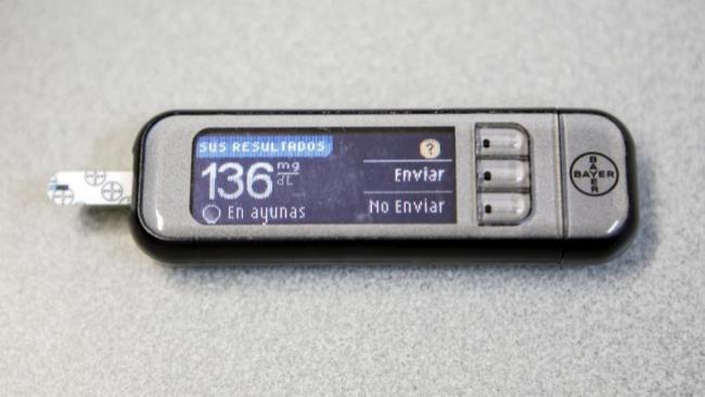 Imagen de un glucómetro.