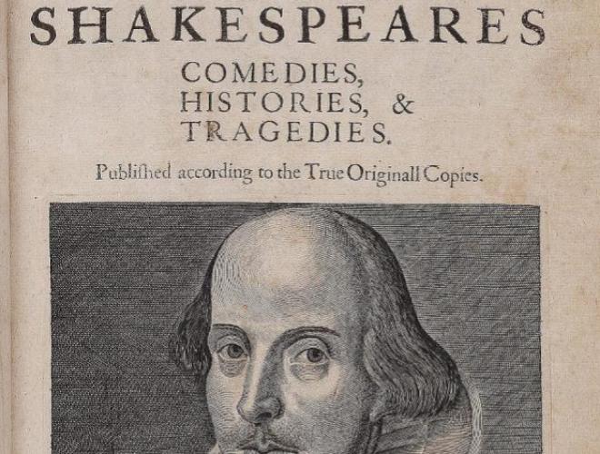 Ejemplar del Primer Folio de Shakespeare similar al encontrado...