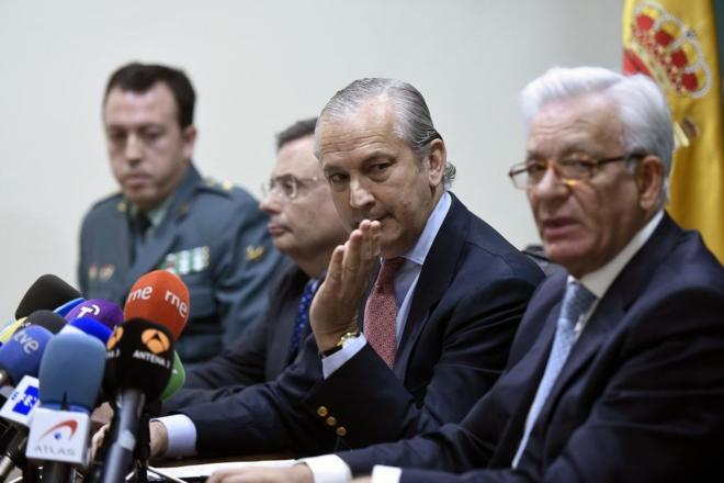 Rueda de prensa sobre el fraude de trasplantes detectado en Madrid.