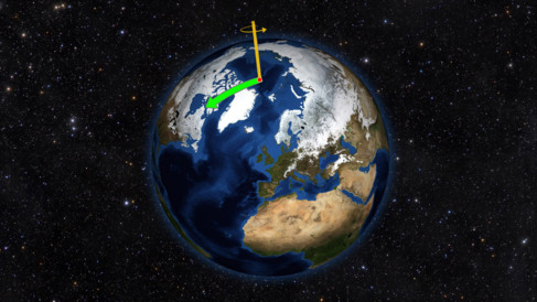 El eje de rotación se desplazó hacia Canadá durante el pasado...