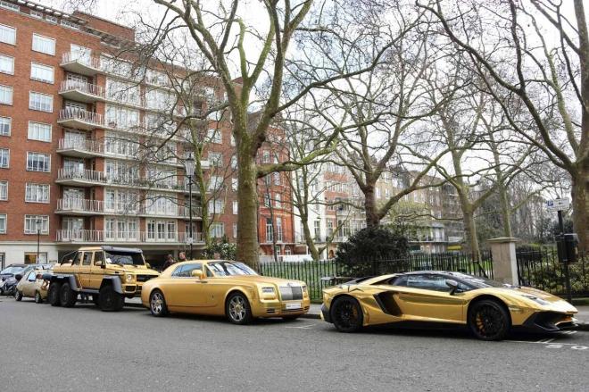 Tres de los coches de Abdullah en Londres