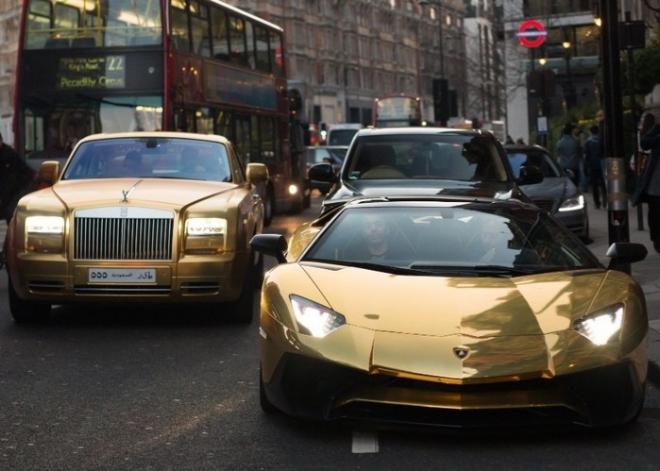 Rolls-Royce y Lamborghini de Abdullah