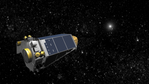 Recreación artística de la misión Kepler.