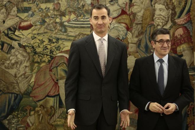 Felipe VI, con Patxi López el pasado 7 de marzo en la Zarzuela.