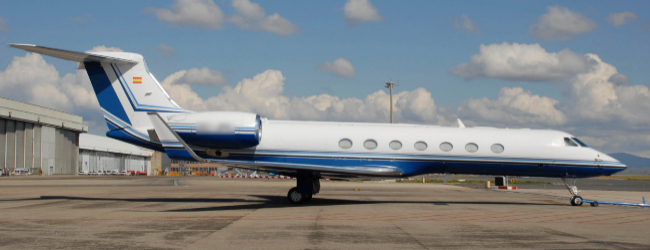 Avión de Telefónica, un Gulfstream G550. En venta