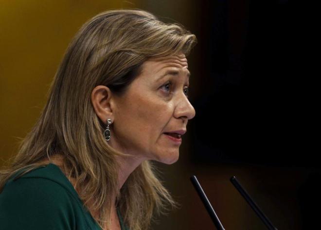 Victoria Rosell, durante una intervención en el Congreso.