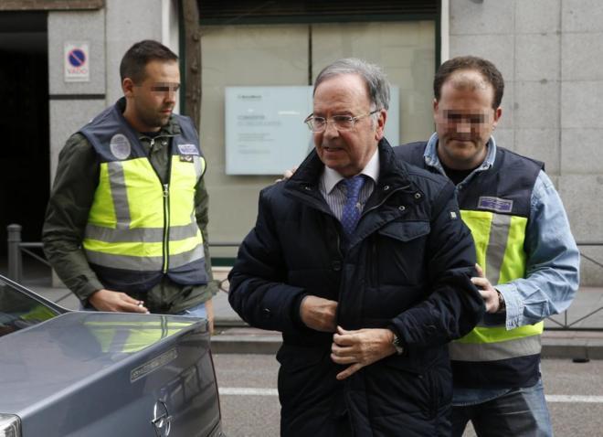Miguel Bernad, secretario general de Manos Limpias, en el momento de...